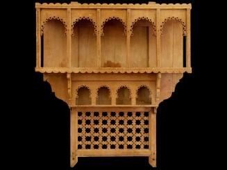 Moroccan cedarwood jar shelf