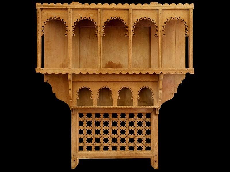 Estante especiero marroquí cedro vintage