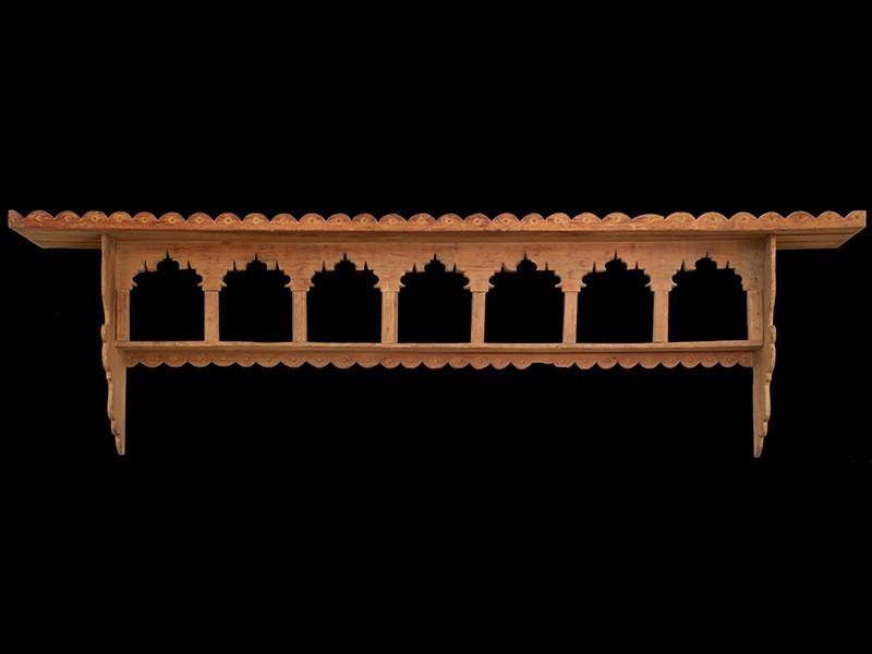 Moroccan cedarwood wall jar rack (L)