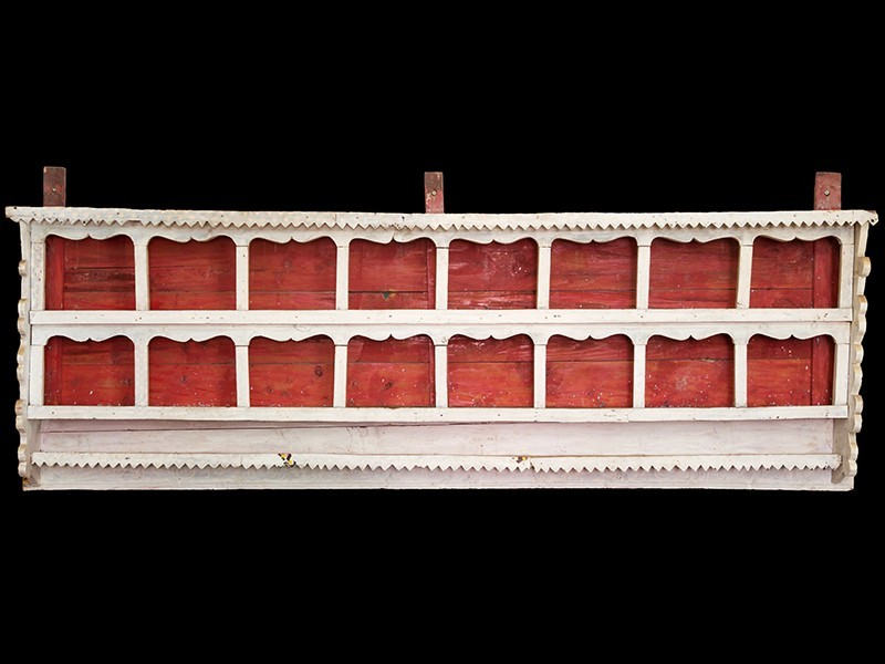 Moroccan cedarwood jar wall spice cabinet (XG)