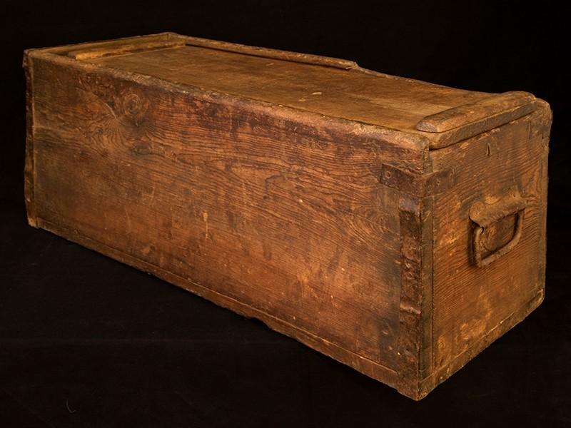 Caja antigua de cedro para vasos y té (G)