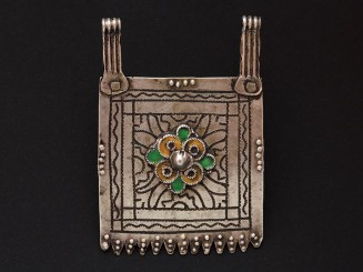 Old Berber silver niello...