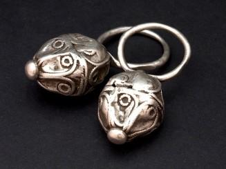 Berber silver hair rings