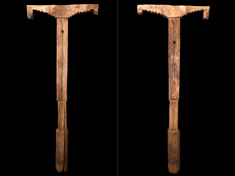 Pilar de madera del Jbel Siroua