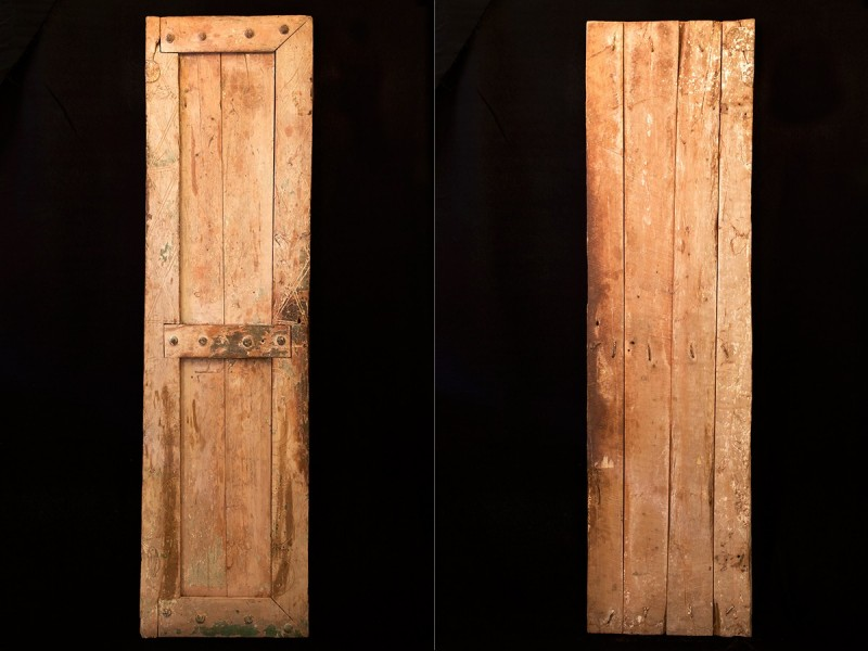 Hoja de puerta bereber madera