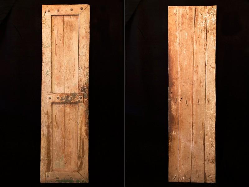 Old Berber wooden door leaf