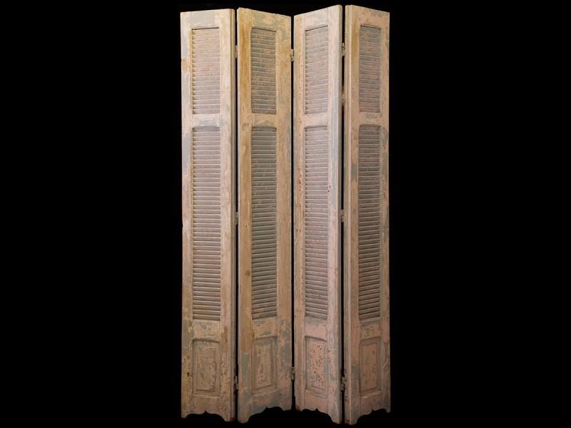 Biombo persiana madera vintage