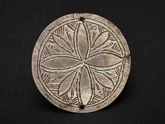 Berber old silver plaque