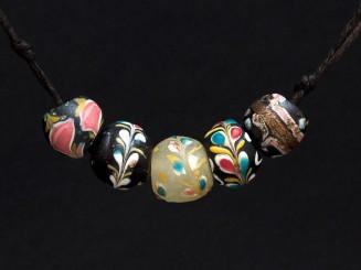 5 Venetian trade beads (fiorà)