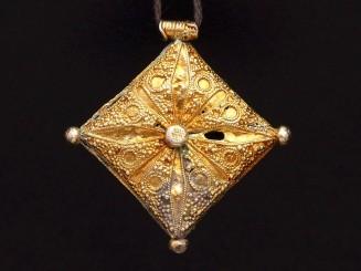 Mauritanian silver (gilding bath) pendant