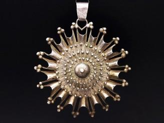 Fulani silver pendant L