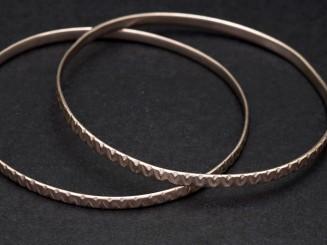 Pair of Berber silver bangles