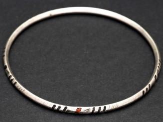 Saharan old silver bangle