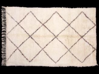 Berber wool knotted Beni Ouaraïn rug.New