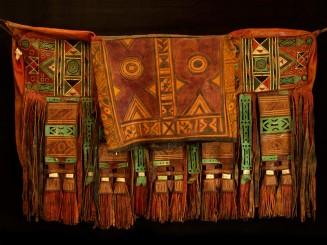 Tuareg leather traveling bag