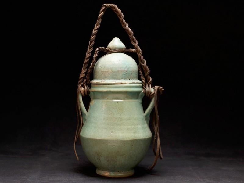 Fez. Vasija cerámica esmaltada verde (P)