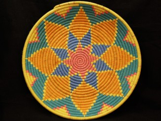 Handwoven plastic and...