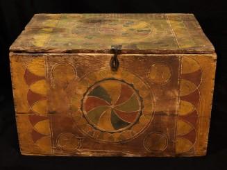 Sunduk. Aït Ouaouzguite painted wooden chest (Siroua).