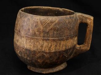 Old Berber wooden jar