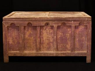 Sunduk. Arcón madera tallada Tahzout (G)