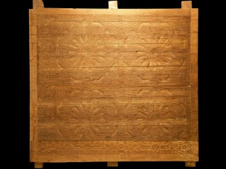 Old carved cedarwood panel.
