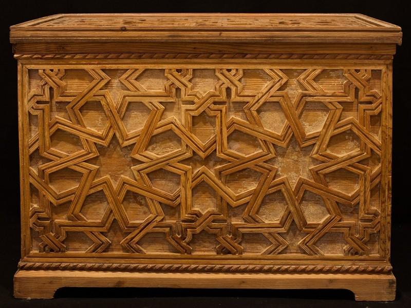Sunduq. Baúl de cedro vintage. (estrellas)