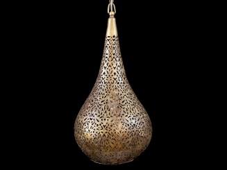 Teardrop copper ceiling lamp