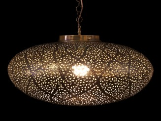 Copper openwork ceiling...