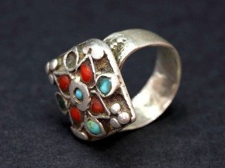 Silver turquoise coral...