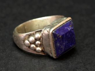 Silver and lapislazuli vintage ring