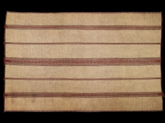 Estera sahariana fibra y cuero vintage