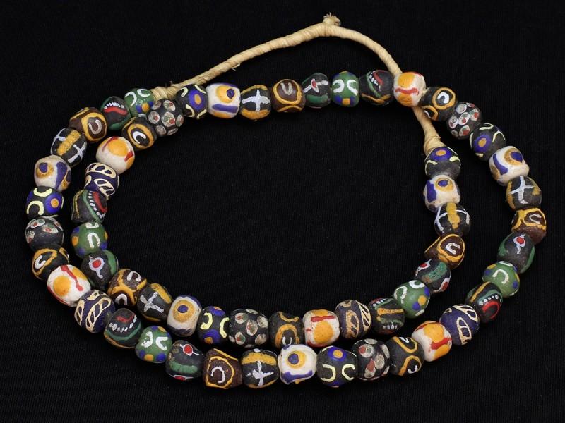 Strand of glasspaste krobo beads