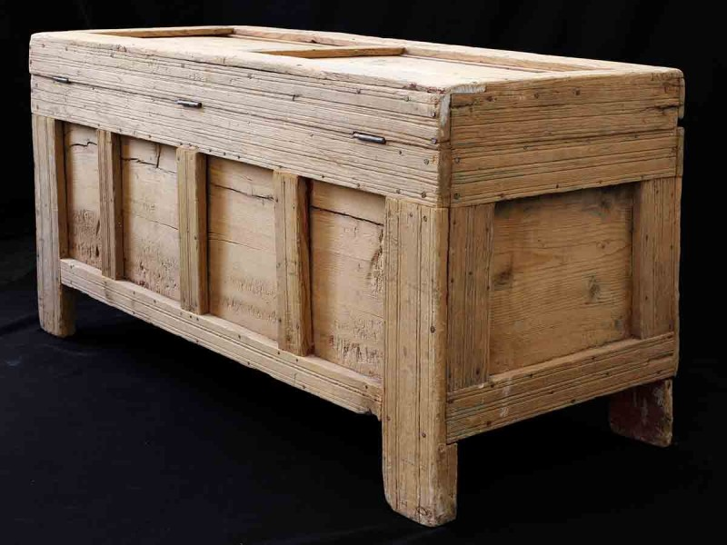 Sunduk. Arcón madera tallada Tahzout