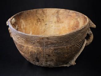 Old Tuareg wooden bowl