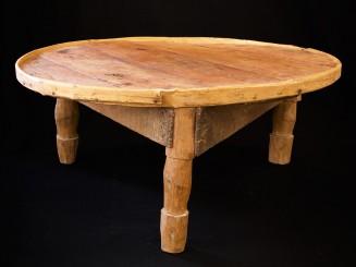 Moroccan cedar wood low bread table