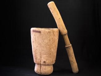 Berber old wooden mortar...