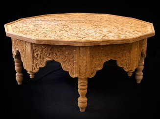 Moroccan cedar wood carved...