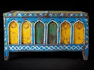 Sunduk. Painted wooden...