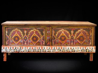 Sunduk. Rif Painted cedar wooden chest