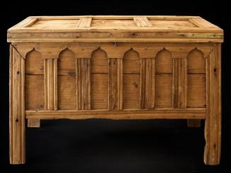 Sunduk. Carved wooden chest...