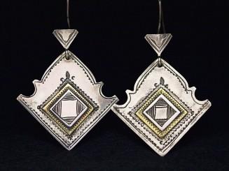 Berber silver earrings.