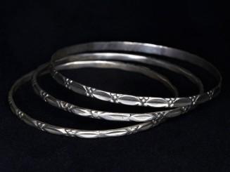 3 Berber silver bangles