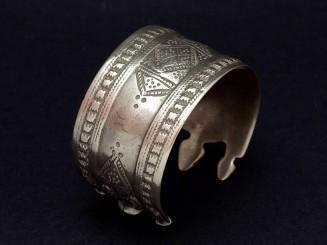 Afghani old silver cuff