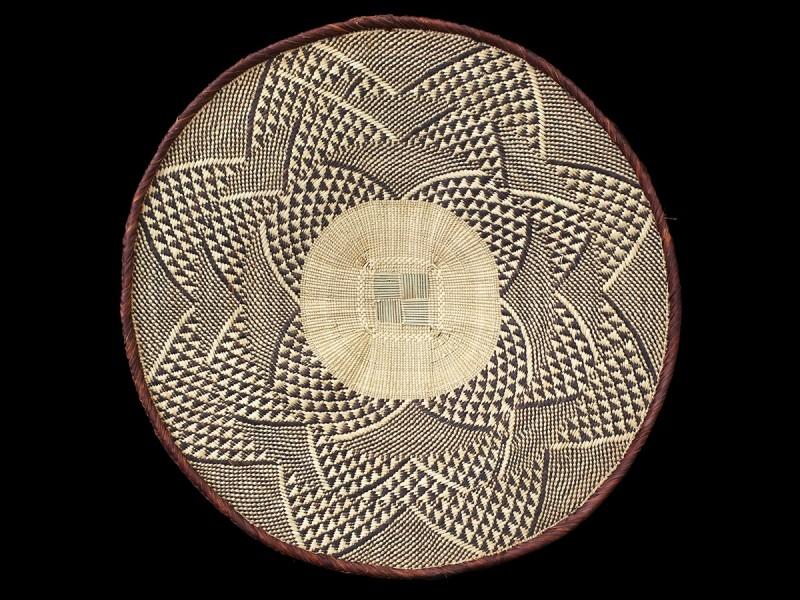Vegetal fiber woven dish. Tonga