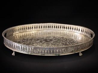Vintage nickel silver tray
