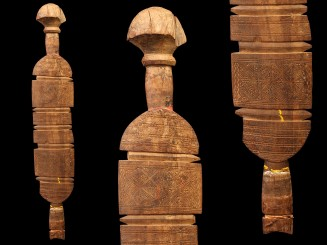 Old wooden Tuareg tent pole
