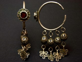 Old Berber silver and glass...