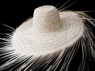 Handmade raffia hat
