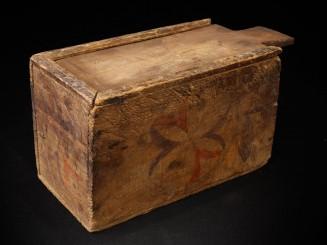 Old wood sugar box