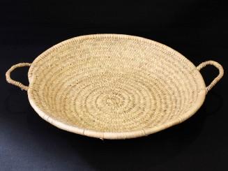 Woven vegetal fiber dish M